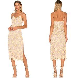 Revolve x NBD Donna Dress in Yellow Sunshine Lace